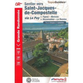 GR652 SENTIER ST JACQUES DE COMPOSTELLE FIGEAC/MOISSAC/ROCAMADOUR/ROMIEU