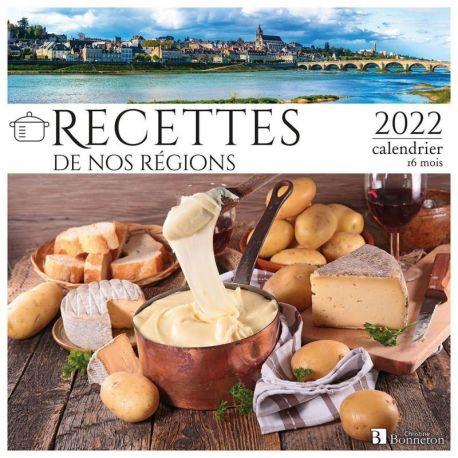 CALENDRIER RECETTES DE NOS RÉGIONS 2022