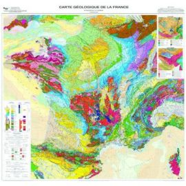 CARTE GEOLOGIQUE DE LA FRANCE PLASTIFIÉE