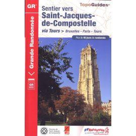 GR6551 SENTIER ST-JACQUES, BRUXELLES PARIS-TOURS