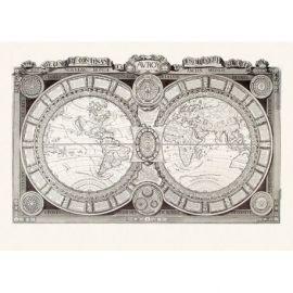LE MONDE CONNU EN 1688 73 CM X 105 CM
