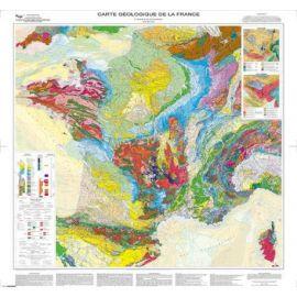 CARTE GEOLOGIQUE DE LA FRANCE PLIEE