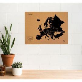 WOODY MAP XL - EUROPE NOIR 90 CM X 60 CM
