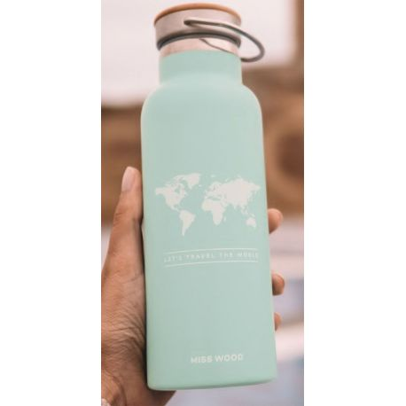 WORLD LIGHT BLUE BOUTEILLE ISOTHERME