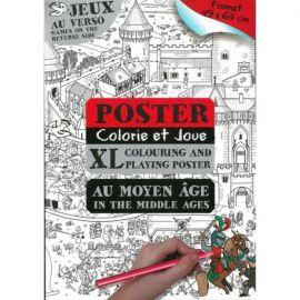 POSTER COLORIE ET JOUE AU MOYEN-ÂGE