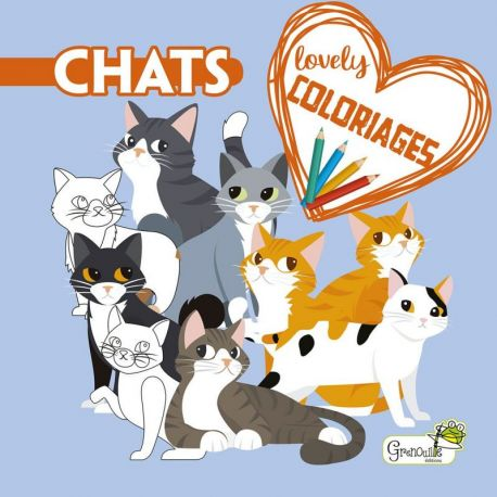 CHATS - LOVELY COLORIAGES