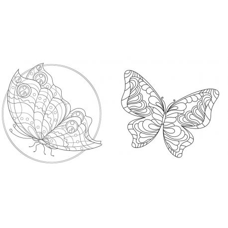 PAPILLONS - LOVELY COLORIAGES