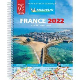 ATLAS FRANCE 2022 PLASTIFIÉ ROUTIER ET TOURISTIQUE